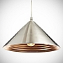 Starlite Satin Nickel Shade with Copper Inner
