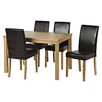 Hampton Oak 4-seater Dining Set