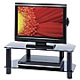 Red TVS1 Black Glass TV Stand for TVs up to 32""
