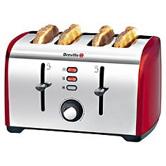 Breville Red Collection 4-slice Toaster