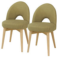 Copenhagen Pair of Upholstered Dining Chairs