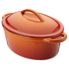 Cook's Collection Oval Cast Iron Casserole