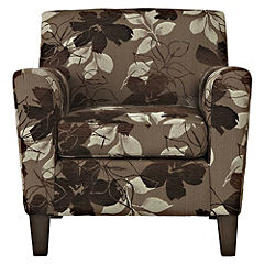 Erica Floral Chair Chocolate
