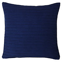 Tu Navy Blue Pleat Cushion
