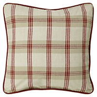 Tu Red Check Cushion