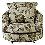 Ramsey Coffee Swivel Snuggler Chair