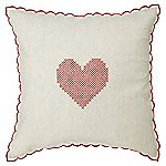 Tu Red Heart Embroidered Cushion