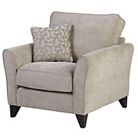 Cambourne Linen Chair with Mink Scatter Cushions