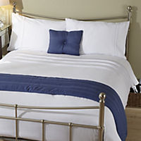 Tu Blue Embroidered Spot Bed in a Bag - includes Duvet Cover, Pillowcase, Cushion Cover and Runner