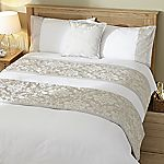 Tu Silver Jacquard Bed in a Bag - includes Duvet Cover, Pillowcase, Cushion Cover and Runner