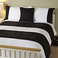 Tu Black Jacquard Bed in a Bag - includes Duvet Cover, Pillowcase, Cushion Cover and Runner
