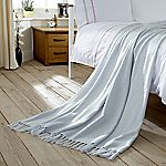 Home Collection Sky Blue Faux Mohair Throw