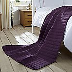 Tu Purple Quilted Throw