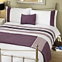 Tu Purple Panel Bed in a Bag - includes Duvet Cover, Pillowcase, Cushion Cover and Runner