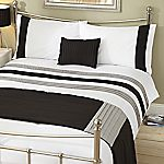 Tu Black Panel Bed in a Bag - includes Duvet Cover, Pillowcase, Cushion and Runner