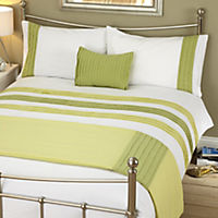 Tu Green Panel Bed in a Bag - includes Duvet Cover, Pillowcase, Cushion Cover and Runner