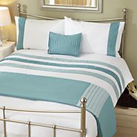 Tu Teal Panel Bed in a Bag - includes Duvet Cover, Pillowcase, Cushion Cover and Runner