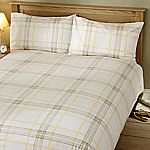 Tu Lemon Printed Check Bed Linen Set