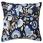 Tu Navy Floral Crewelwork Cushion