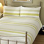 Tu Green Bold Stripe Bed Linen Set