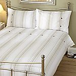 Tu Neutral Fine Printed Stripe Bed Linen Set