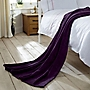 Tu Purple Supersoft Fleece Throw