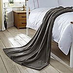 Tu Charcoal Supersoft Fleece Throw