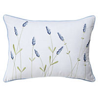 Tu Lavender Embroidered Cushion