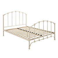 Warwick White Metal Double Bedstead