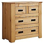 Charlbury Pine 2+2 Drawer Chest of Drawers