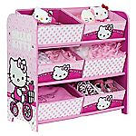 Hello Kitty 6 Bin Storage Unit