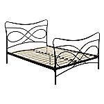 Bordeaux Black Metal Double Bedstead