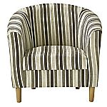 Chocolate Stripe Tub Chair