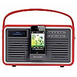 View Retro DAB Radio with iPhone Dock Red