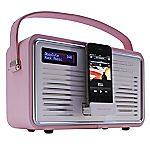 View Retro DAB Radio with iPhone Dock Pink