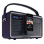 View Retro DAB Radio with iPhone Dock Purple