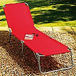 Sainsbury's Red Sunlounger