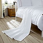 Home Collection White Matelasse Throw