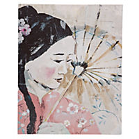 Oriental Lady Canvas 50x40cm