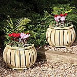 Rowlinson Marberry Ball Planter 2-pack