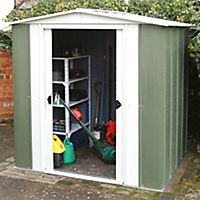 Rowlinson Greenvale Metal Apex Shed 8x6ft