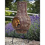 La Hacienda Mottled Red Medium Clay Chimenea
