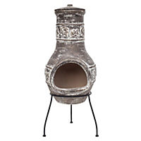 La Hacienda Maple Leaf Medium Clay Chimenea