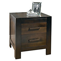 Hatfield Walnut Veneer 2-drawer Nightstand