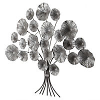 Metal Flower Wall Art 87x73cm