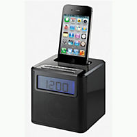 Red 9015 Alarm Clock Radio iPhone Dock