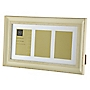 Tu Cream Distressed Wood Effect 3-aperture Frame