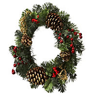 "by Sainsbury's Traditional 16"" Christmas Wreath"