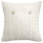 by Sainsbury's Natural Wavy Knitted Cushion