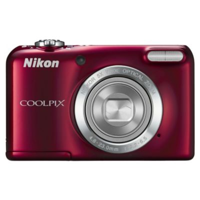"Nikon Coolpix L27 16.1MP 5x Optical Zoom 2.7"" LCD Red Compact Digital Camera - image 1"
